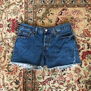 Levi's 501 Cutoff Denim Shorts 26
